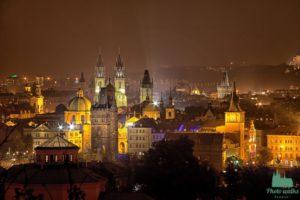 night walk in Prague
